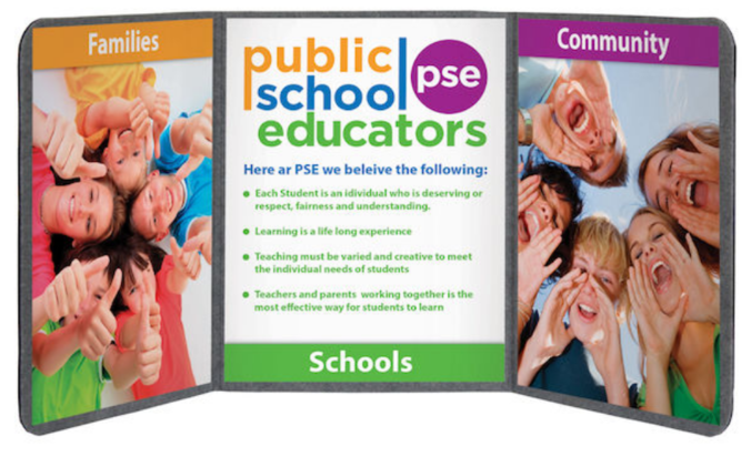 public school educators trifold graphic